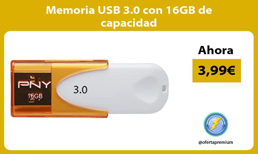 Memoria USB 3 0 con 16GB de capacidad
