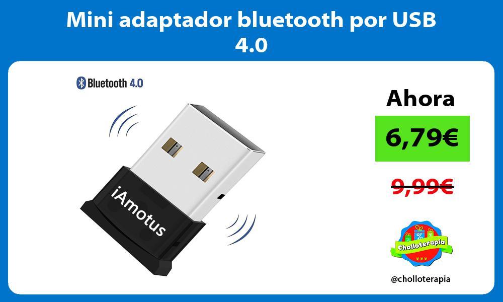 Mini adaptador bluetooth por USB 4 0