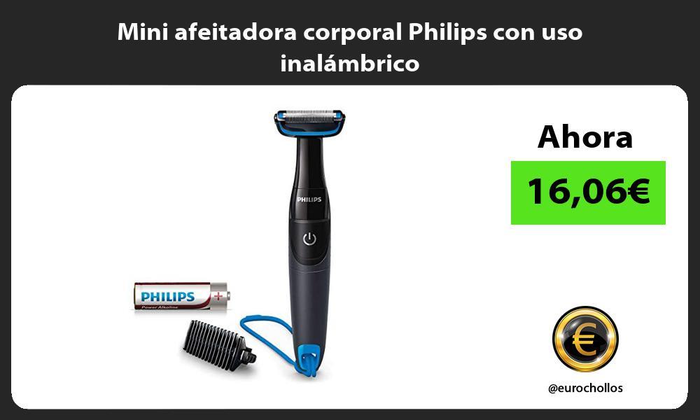 Mini afeitadora corporal Philips con uso inalámbrico
