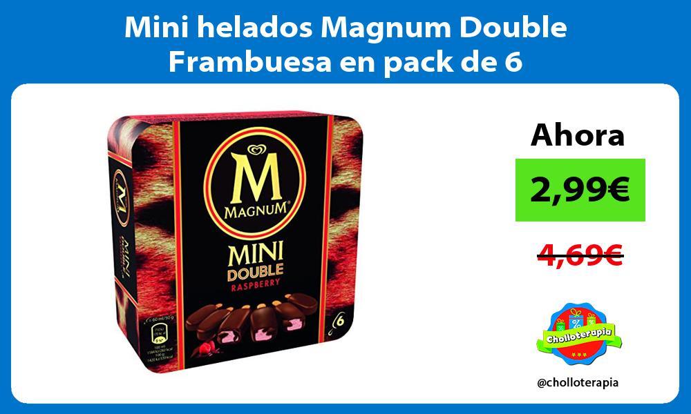 Mini helados Magnum Double Frambuesa en pack de 6