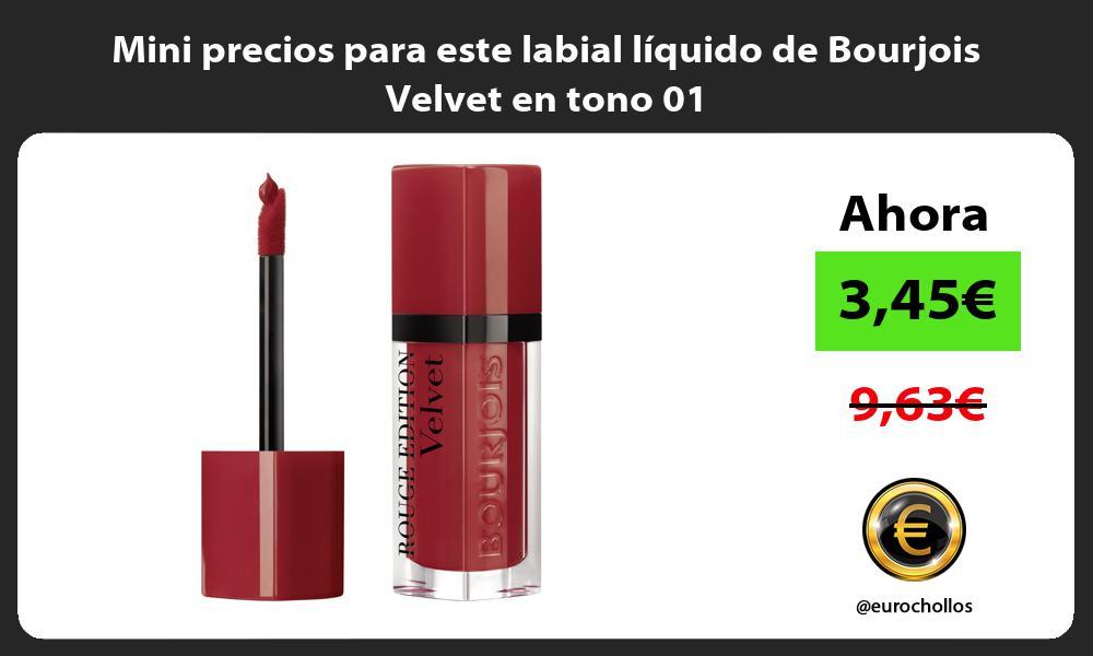 Mini precios para este labial líquido de Bourjois Velvet en tono 01