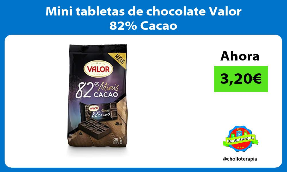 Mini tabletas de chocolate Valor 82 Cacao