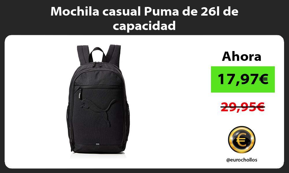 Mochila casual Puma de 26l de capacidad
