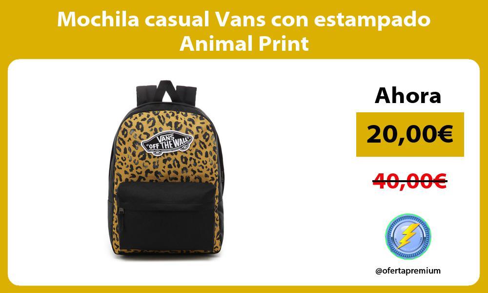 Mochila casual Vans con estampado Animal Print