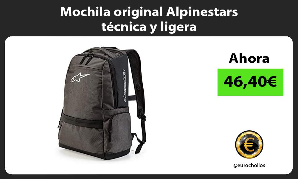 Mochila original Alpinestars técnica y ligera