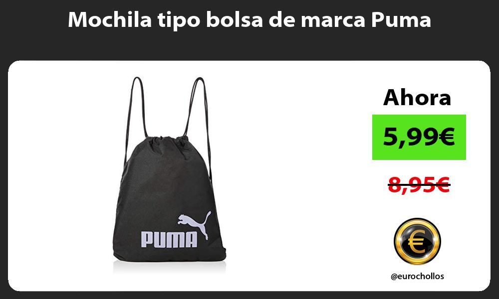 Mochila tipo bolsa de marca Puma