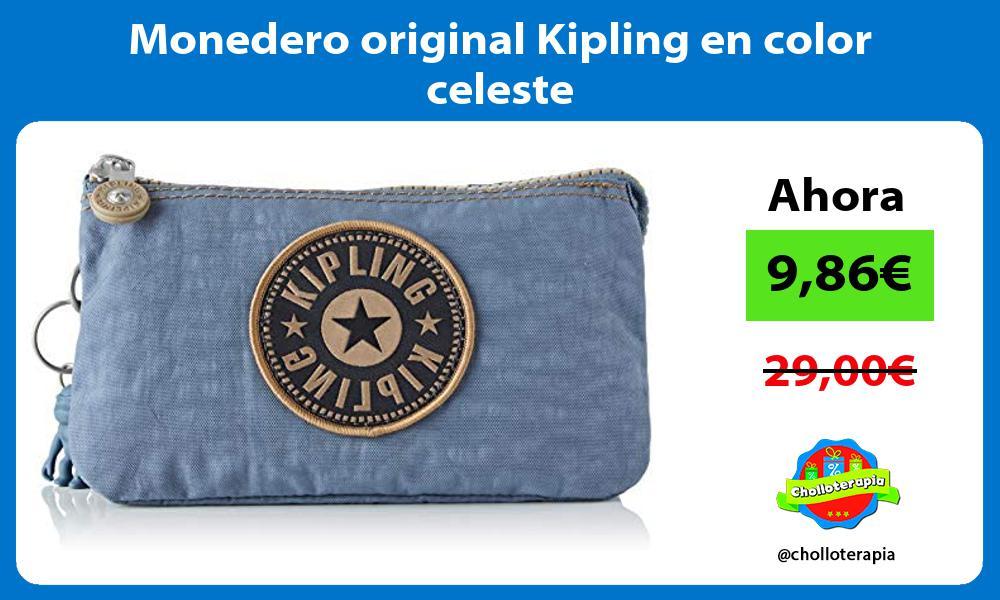 Monedero original Kipling en color celeste