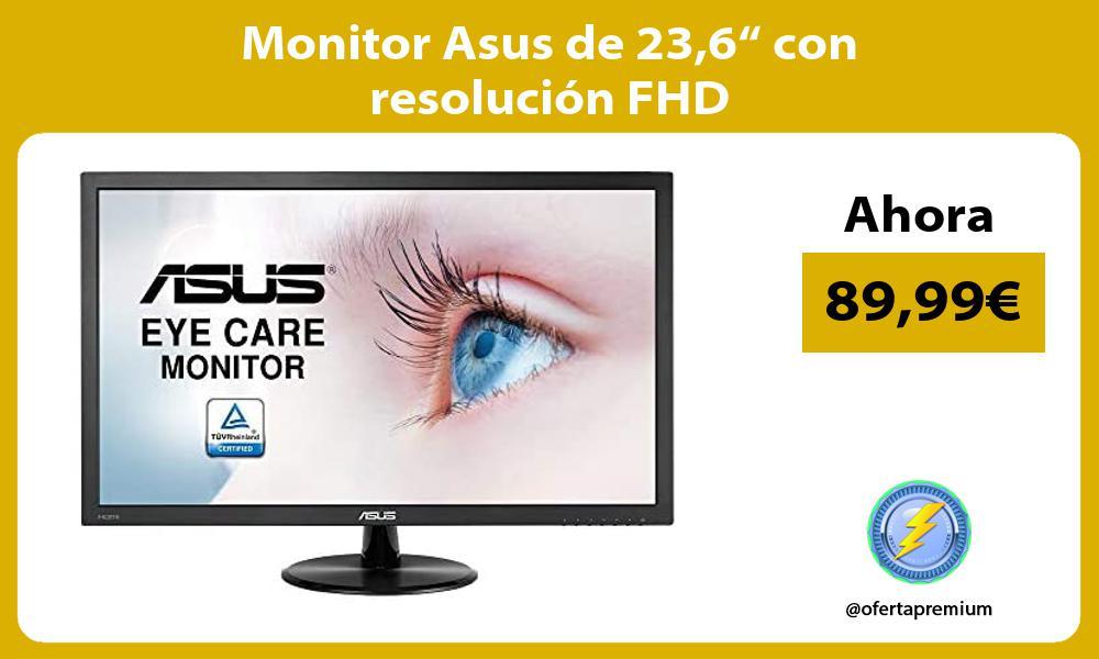 """Monitor Asus de 236"""" con resolución FHD"""