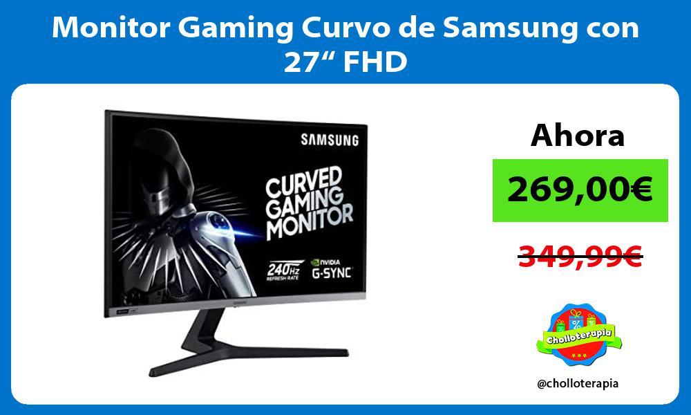 "Monitor Gaming Curvo de Samsung con 27"" FHD"