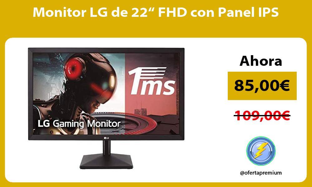 "Monitor LG de 22"" FHD con Panel IPS"