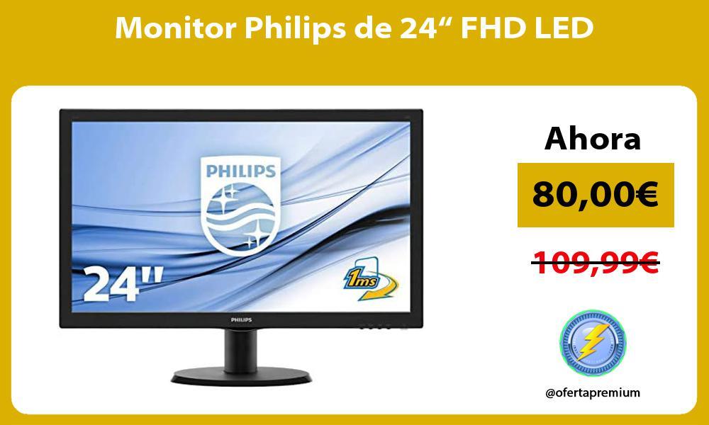 "Monitor Philips de 24"" FHD LED"
