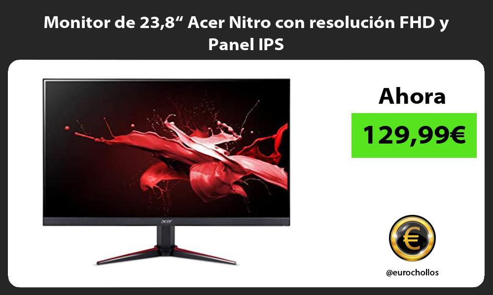 """Monitor de 238"""" Acer Nitro con resolución FHD y Panel IPS"""