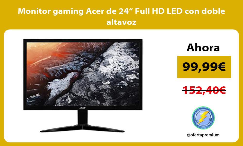 "Monitor gaming Acer de 24"" Full HD LED con doble altavoz"
