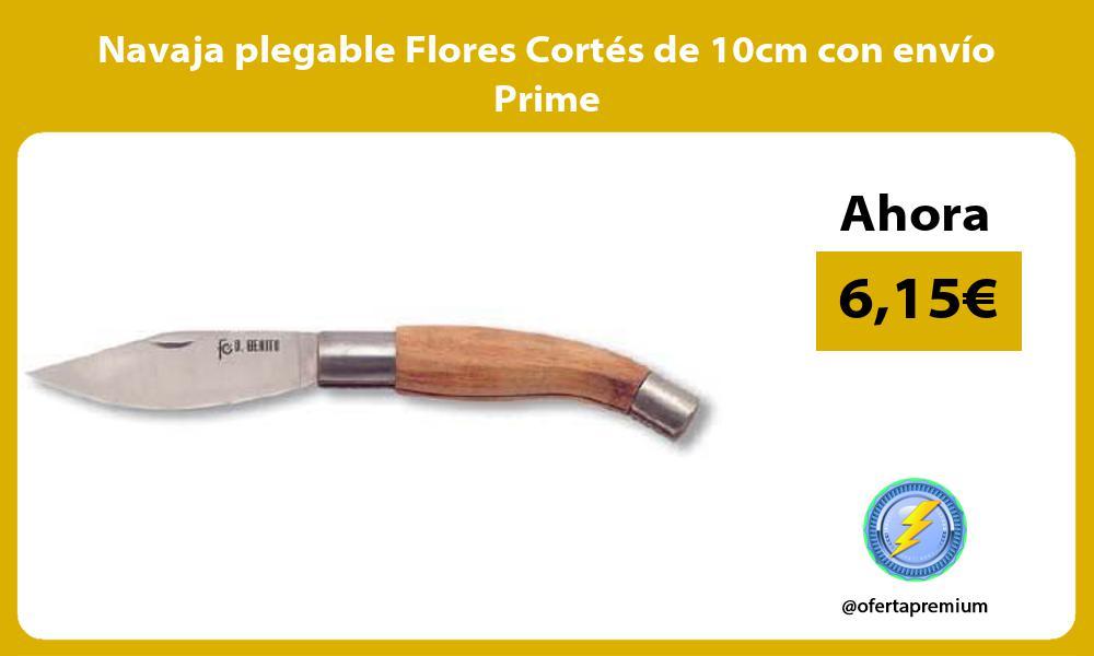 Navaja plegable Flores Cortés de 10cm con envío Prime