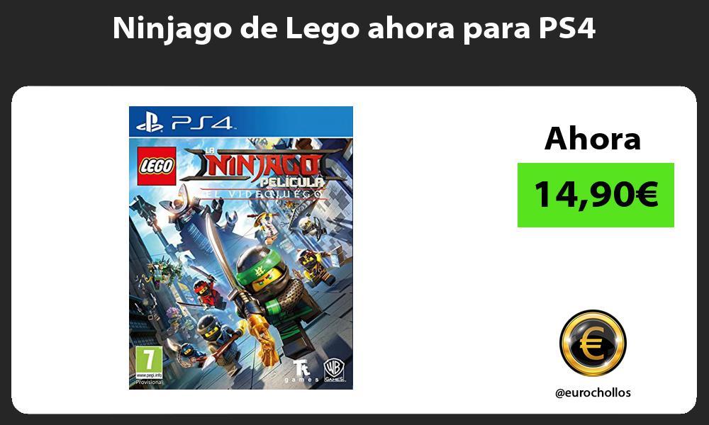 Ninjago de Lego ahora para PS4
