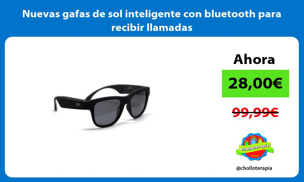 Nuevas gafas de sol inteligente con bluetooth para recibir llamadas