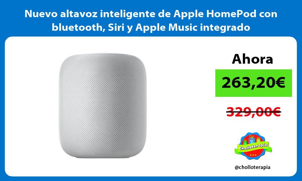 Nuevo altavoz inteligente de Apple HomePod con bluetooth Siri y Apple Music integrado