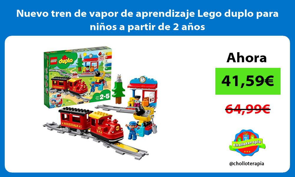 Nuevo tren de vapor de aprendizaje Lego duplo para niños a partir de 2 años