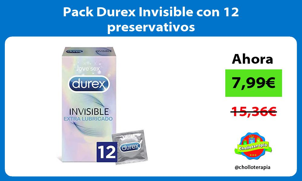 Pack Durex Invisible con 12 preservativos