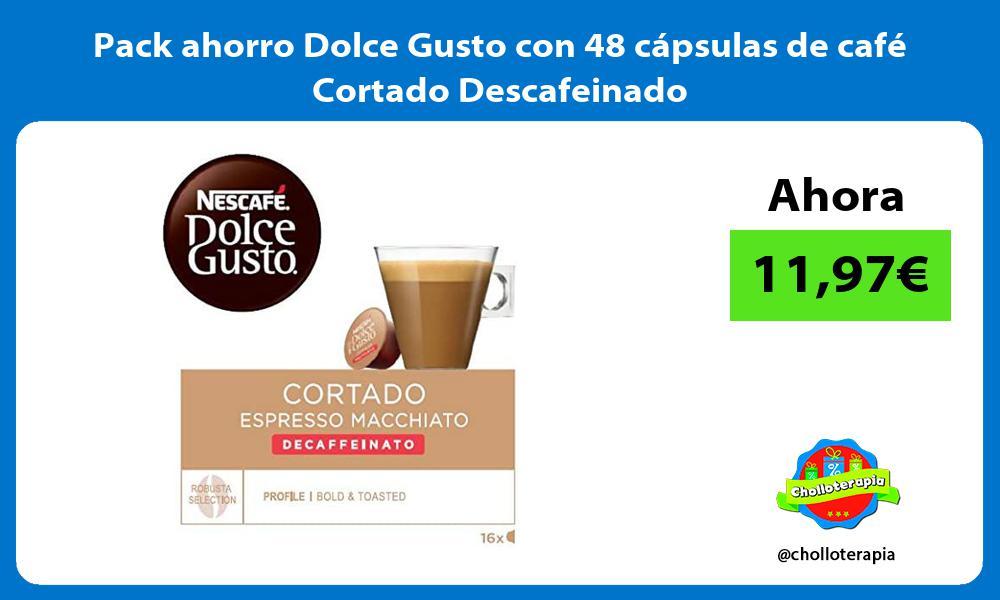 Pack ahorro Dolce Gusto con 48 cápsulas de café Cortado Descafeinado