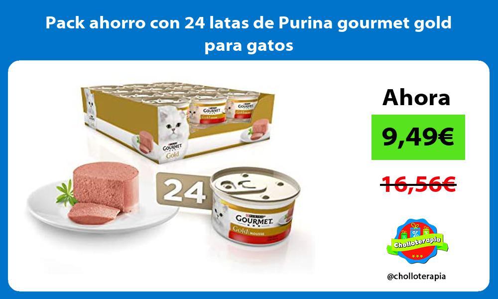 Pack ahorro con 24 latas de Purina gourmet gold para gatos