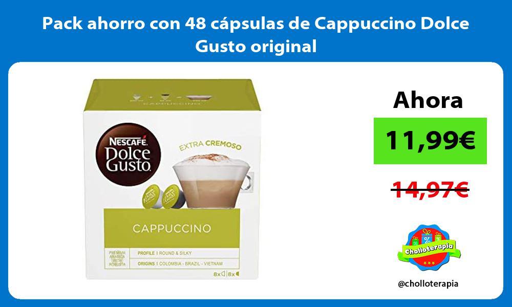 Pack ahorro con 48 cápsulas de Cappuccino Dolce Gusto original