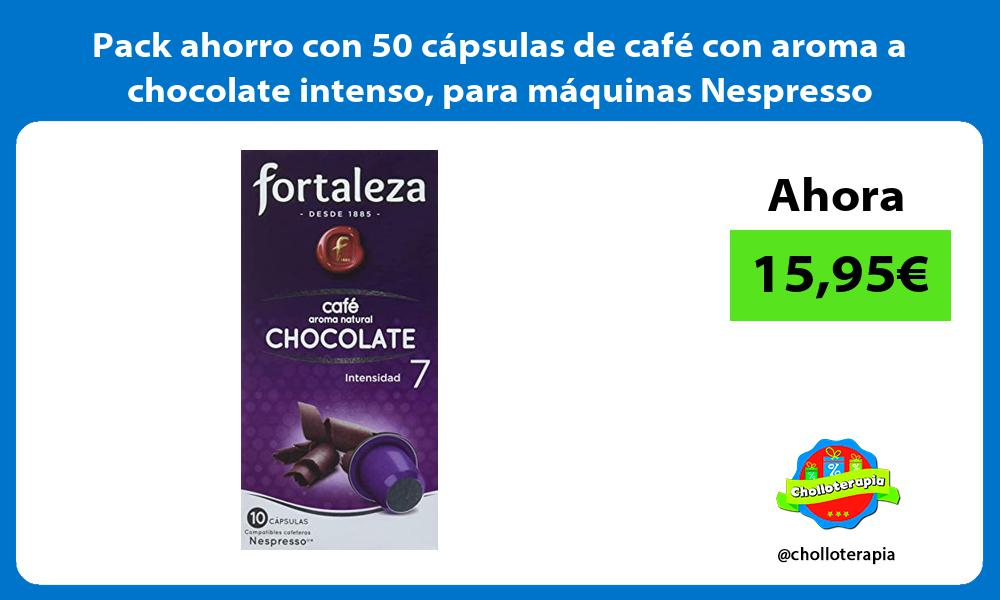 Pack ahorro con 50 cápsulas de café con aroma a chocolate intenso para máquinas Nespresso