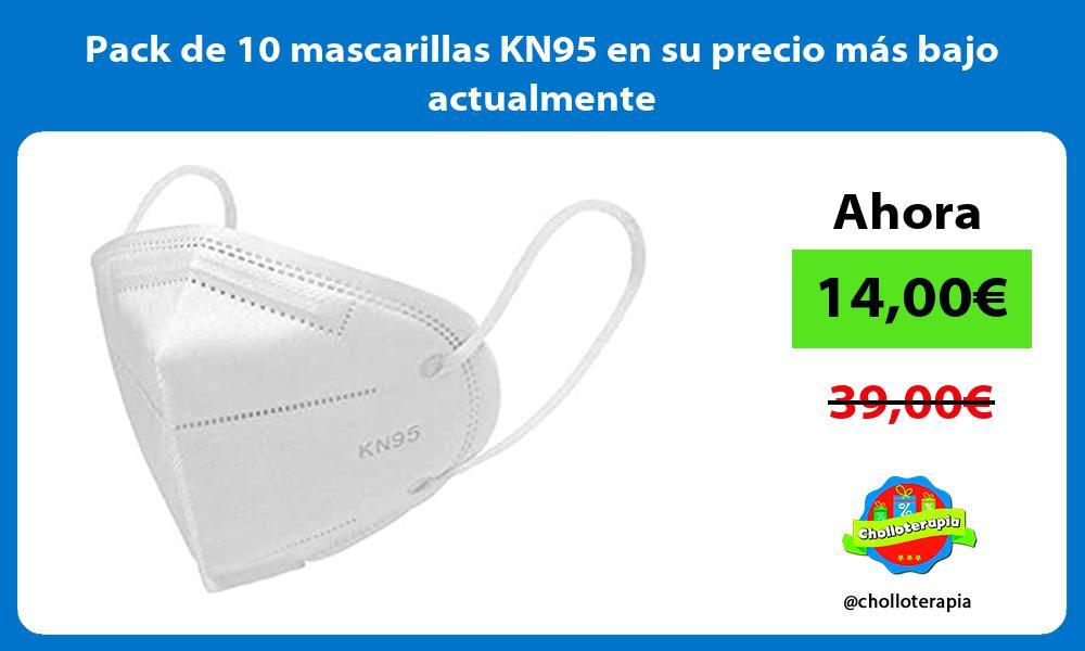 Pack de 10 mascarillas KN95 en su precio más bajo actualmente