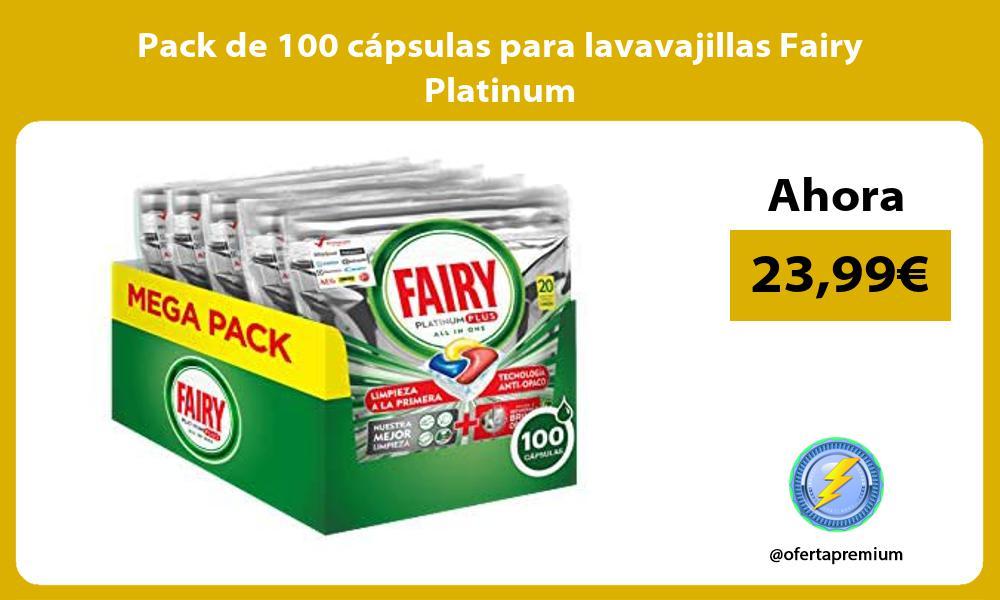 Pack de 100 cápsulas para lavavajillas Fairy Platinum