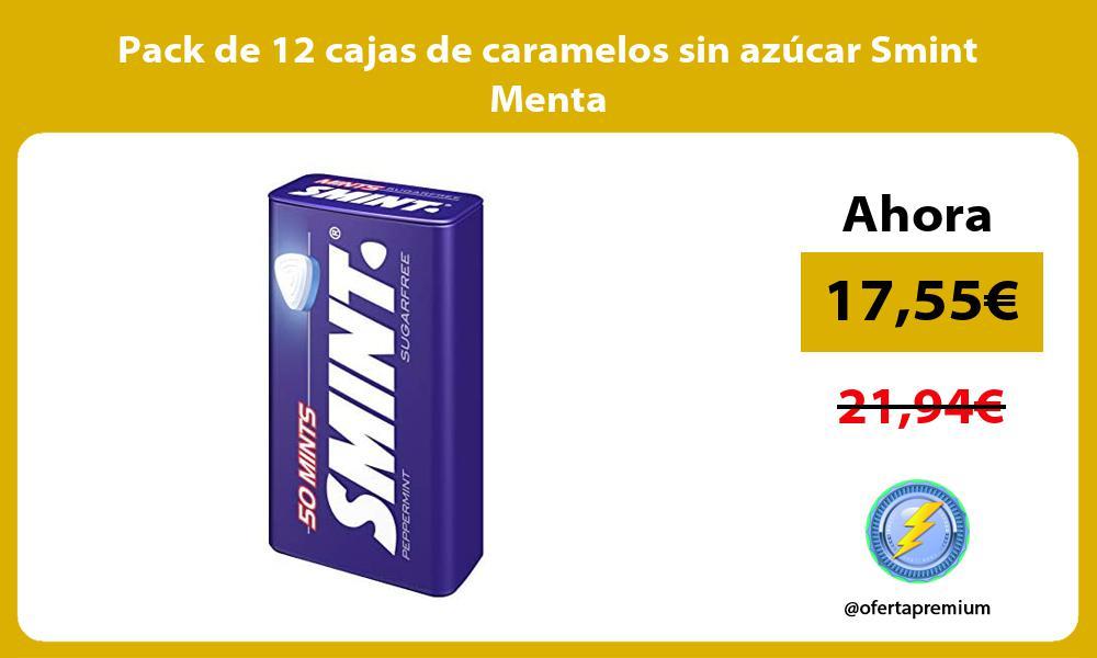 Pack de 12 cajas de caramelos sin azúcar Smint Menta