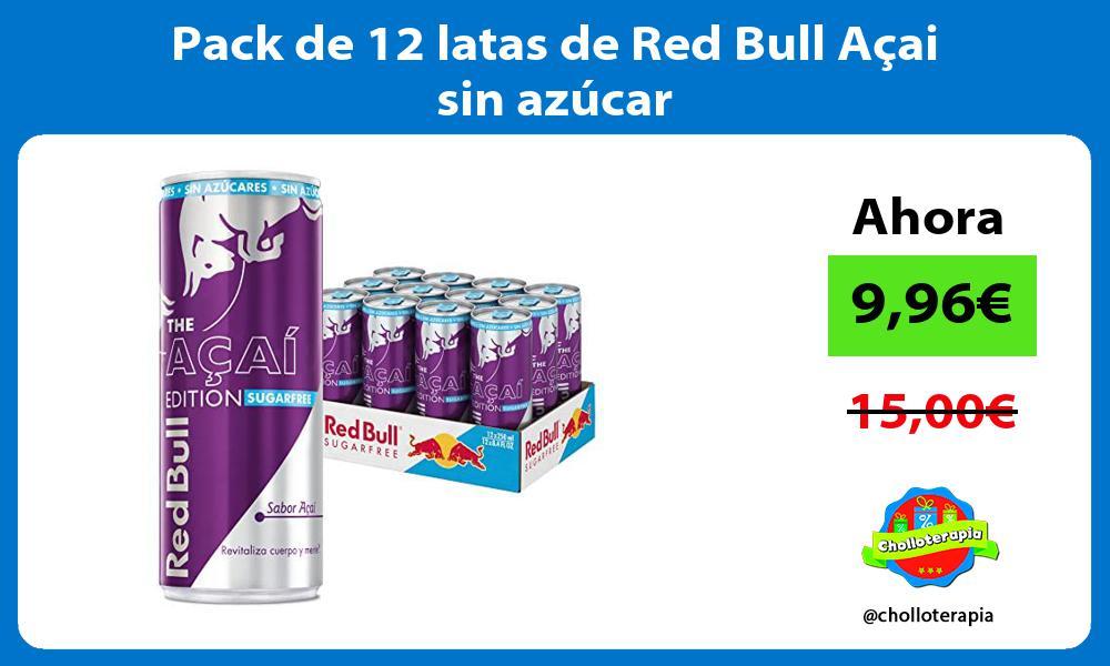 Pack de 12 latas de Red Bull Açai sin azúcar