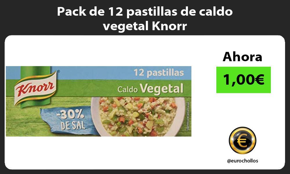 Pack de 12 pastillas de caldo vegetal Knorr