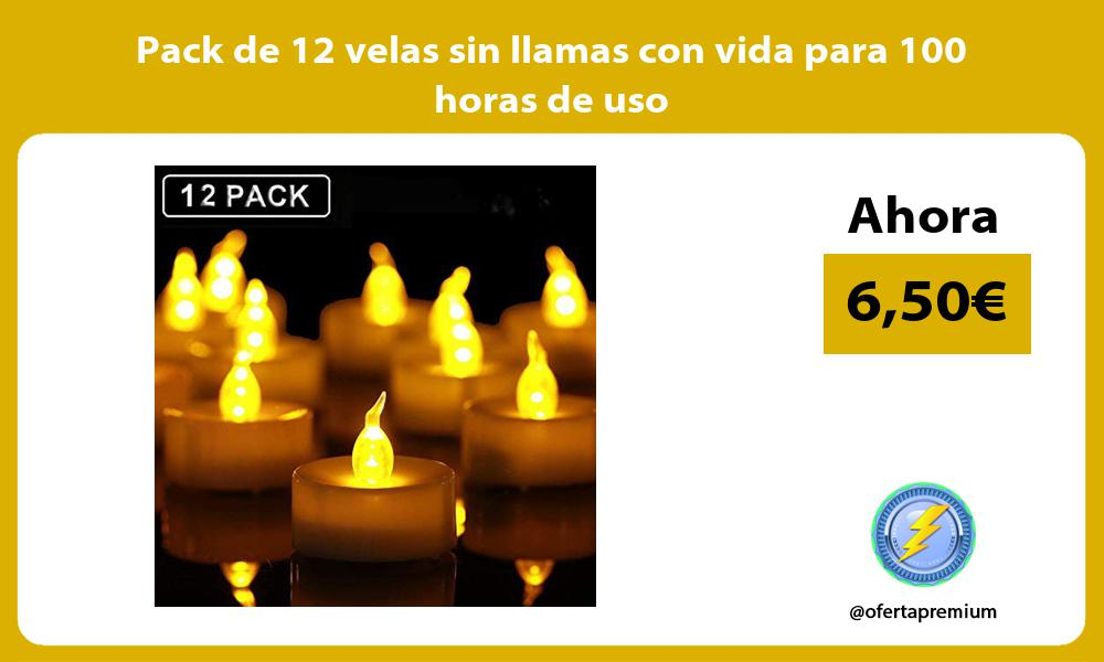Pack de 12 velas sin llamas con vida para 100 horas de uso