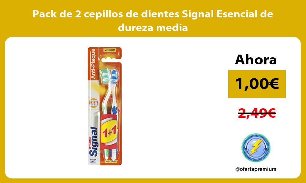 Pack de 2 cepillos de dientes Signal Esencial de dureza media