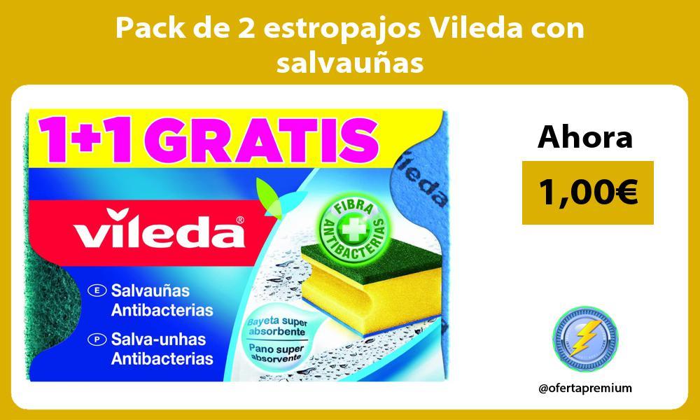 Pack de 2 estropajos Vileda con salvauñas