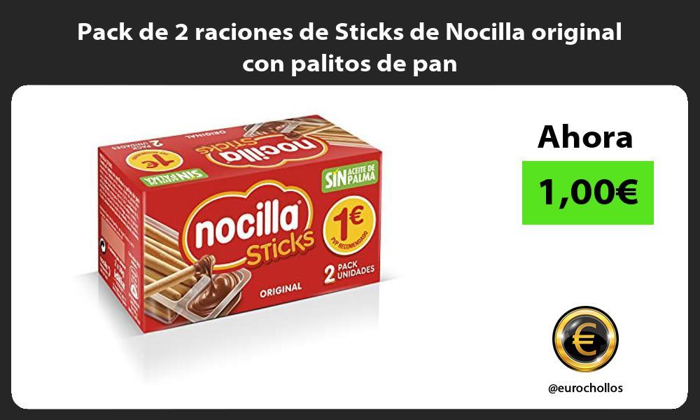 Pack de 2 raciones de Sticks de Nocilla original con palitos de pan