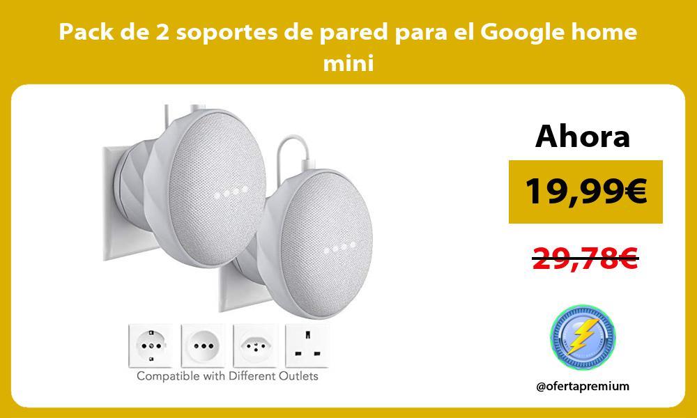 Pack de 2 soportes de pared para el Google home mini