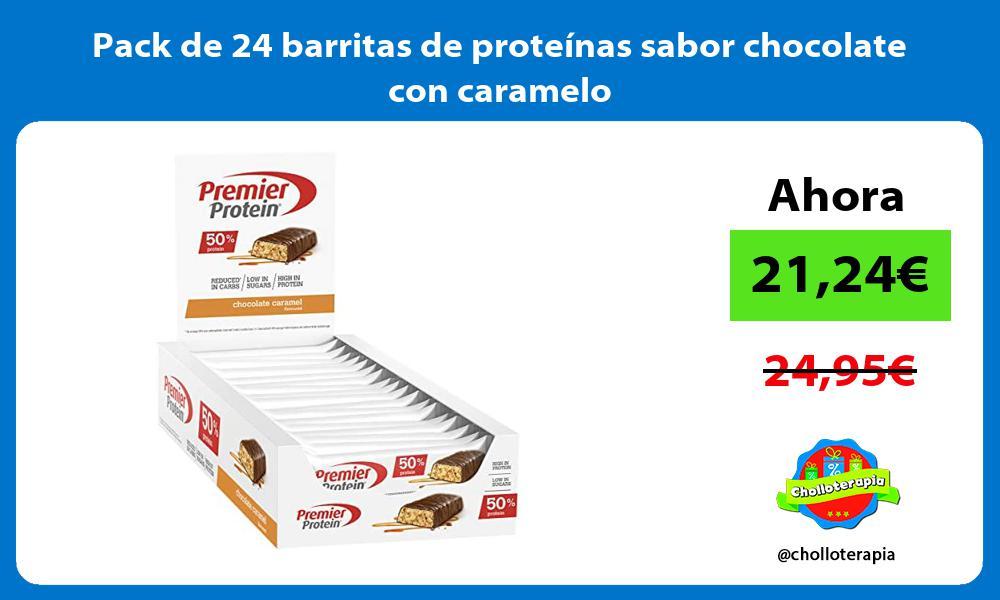 Pack de 24 barritas de proteínas sabor chocolate con caramelo