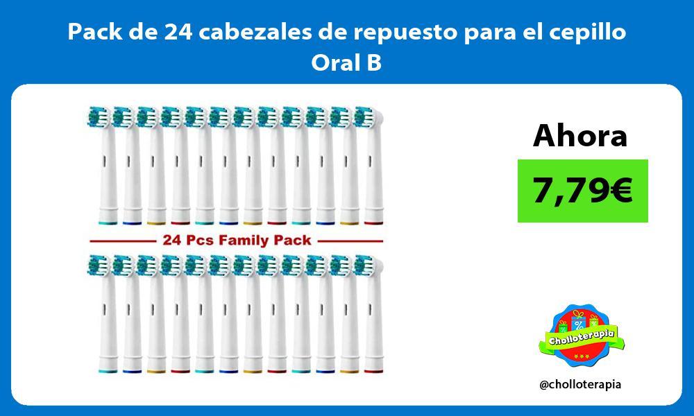 Pack de 24 cabezales de repuesto para el cepillo Oral B