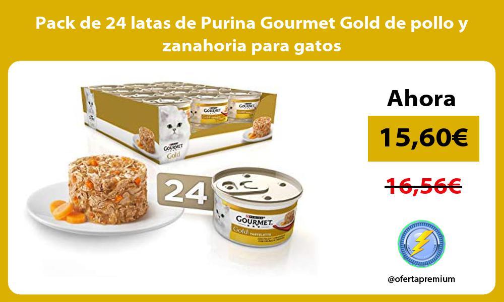 Pack de 24 latas de Purina Gourmet Gold de pollo y zanahoria para gatos