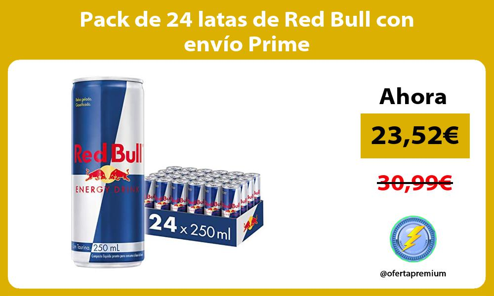 Pack de 24 latas de Red Bull con envío Prime