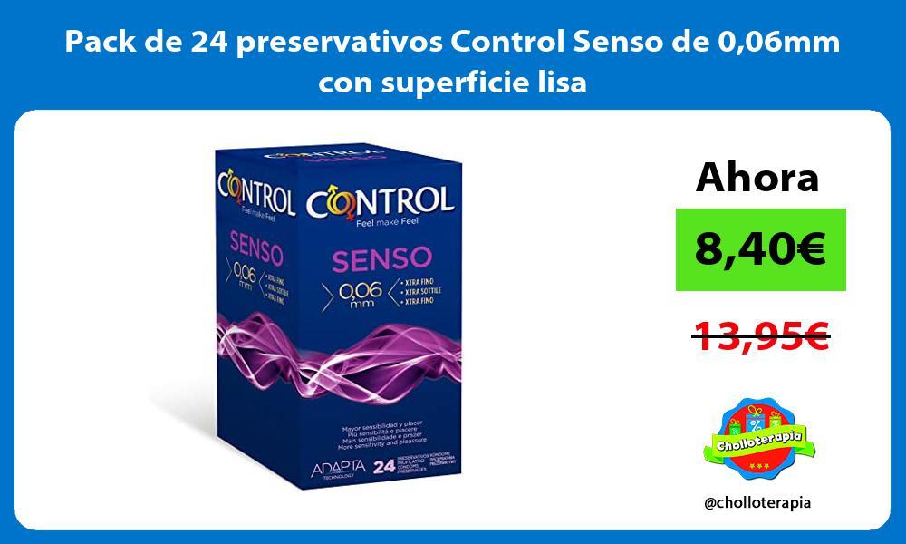 Pack de 24 preservativos Control Senso de 006mm con superficie lisa