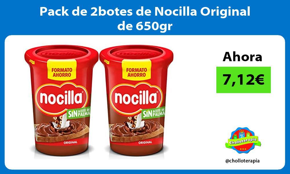 Pack de 2botes de Nocilla Original de 650gr