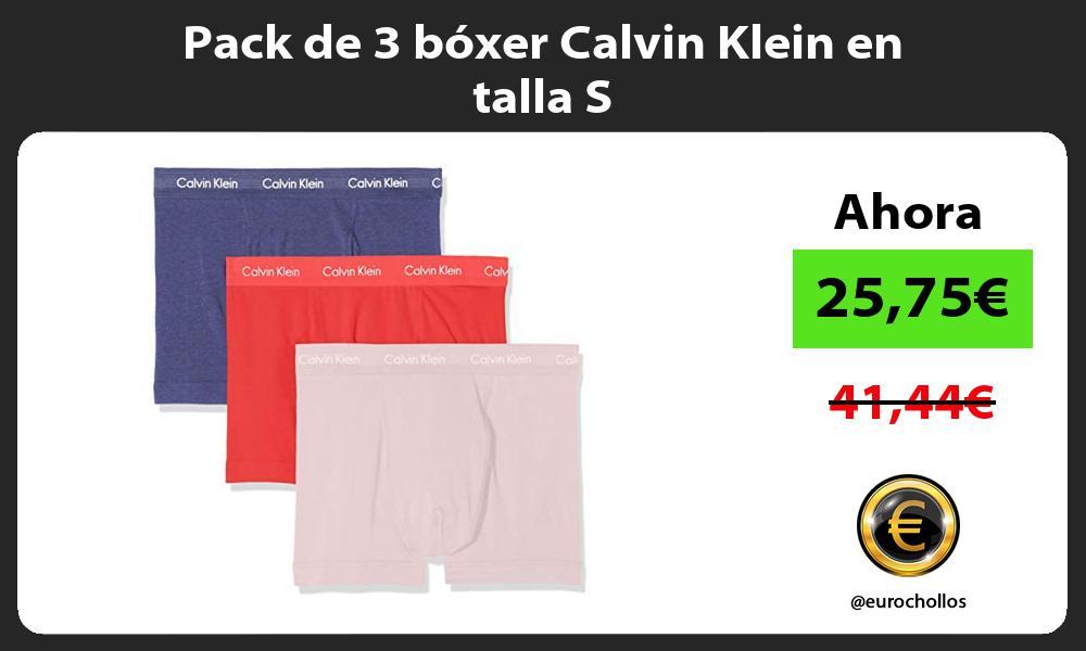 Pack de 3 bóxer Calvin Klein en talla S