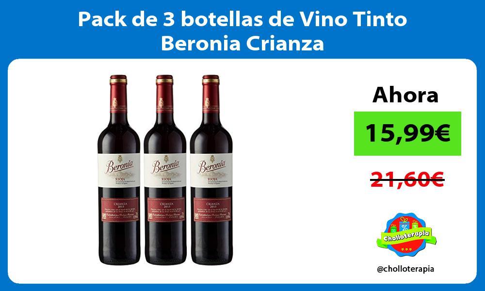 Pack de 3 botellas de Vino Tinto Beronia Crianza