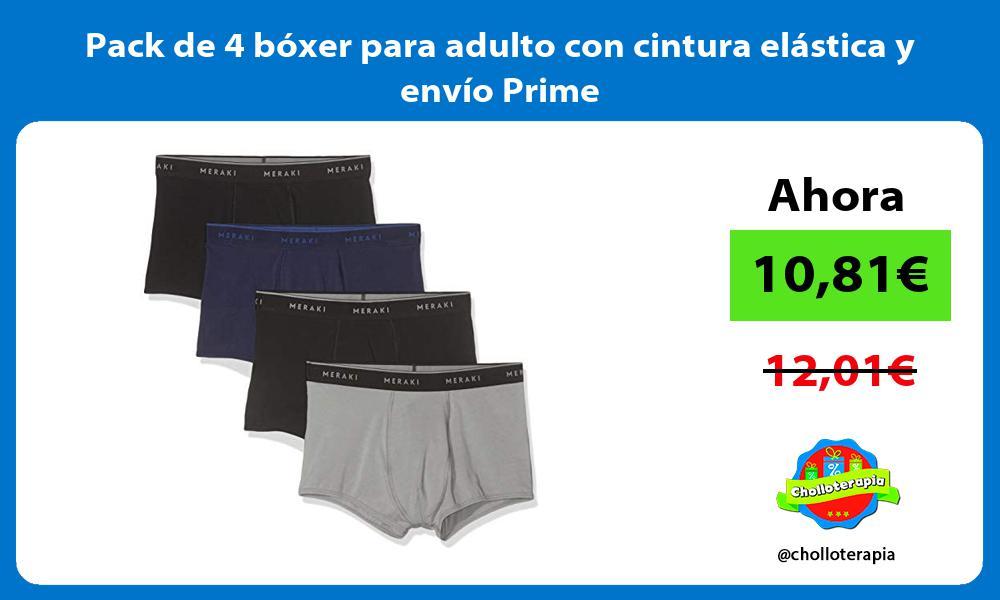 Pack de 4 bóxer para adulto con cintura elástica y envío Prime