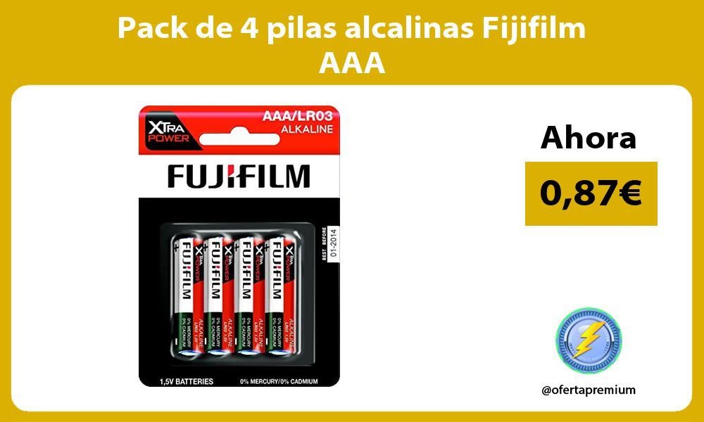 Pack de 4 pilas alcalinas Fijifilm AAA