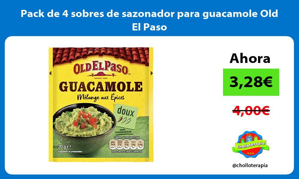 Pack de 4 sobres de sazonador para guacamole Old El Paso