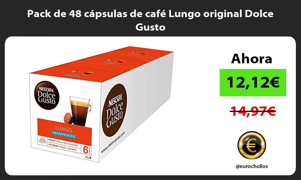 Pack de 48 cápsulas de café Lungo original Dolce Gusto