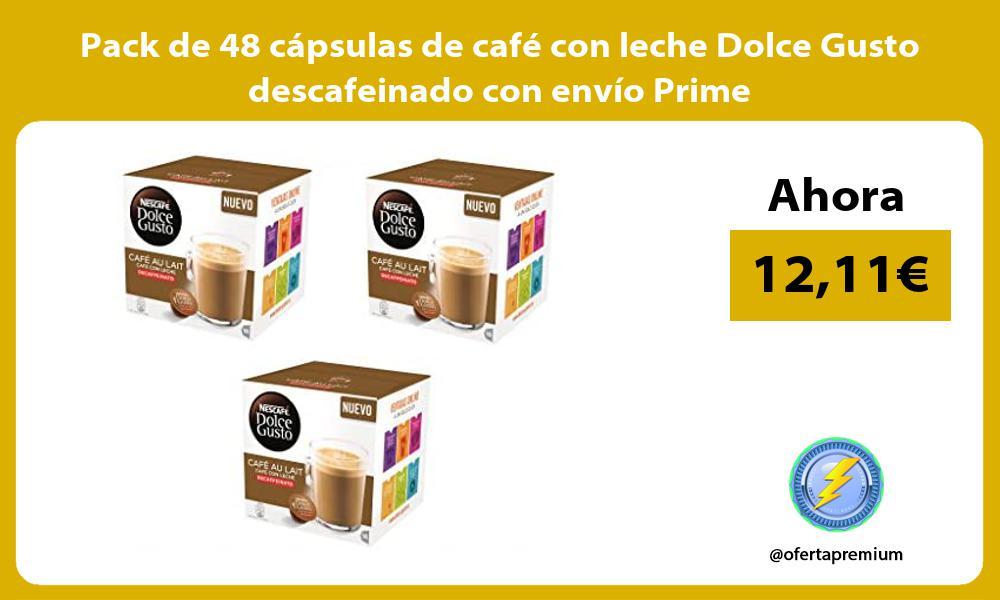 Pack de 48 cápsulas de café con leche Dolce Gusto descafeinado con envío Prime